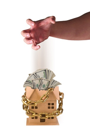 Real Estate Chained and a Bad Investment. Stock Photo - 12030842