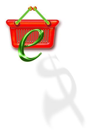 E-Commerce Shopping Basket. Stock Photo - 11988467