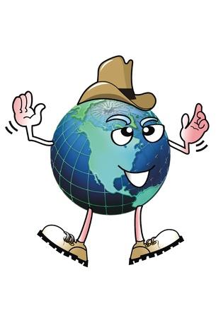Cowboy Earth Man. Stock Photo - 12441829
