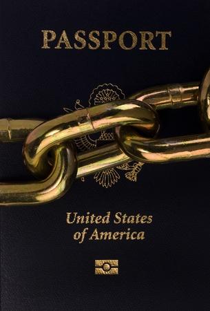 American Passport. Stock Photo - 12441840