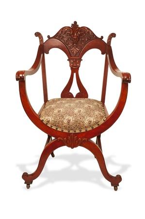 마호가니: 앤틱 마호가니 미국의 의자는 1890 년에 제작 스톡 사진