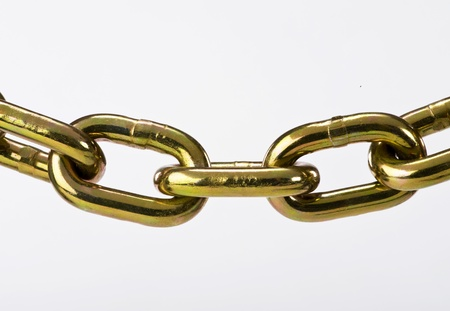 Brass Chain. Stock Photo - 12441876