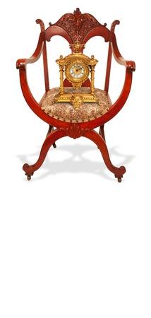 caoba: Presidente de madera de caoba de Am�rica con el reloj