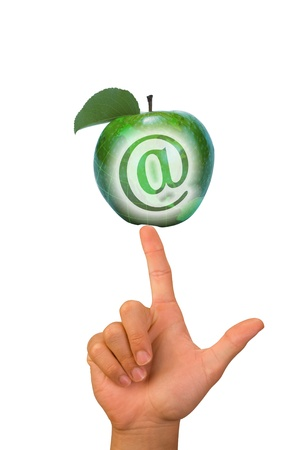E-Commerce Green Apple  Stock Photo - 12757577