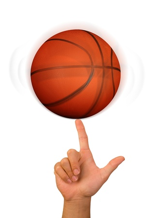 Basketball on a Finger