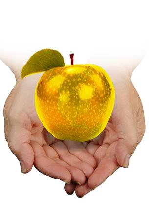 golden apple: Golden Apple in Hand