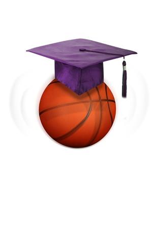 tassel: Basketball and Education  Stock Photo
