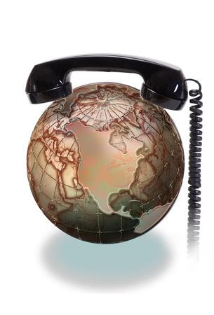 environmental conversation: Phone the World  Stock Photo