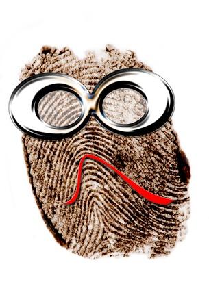 fingermark: Funny face finger print