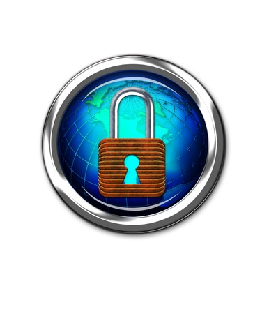 Lock Button  Stock Photo - 17167853