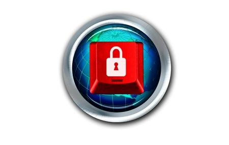 Lock Button  Stock Photo - 17167852