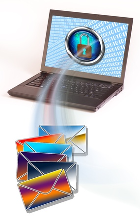 Computer mail  Stock Photo - 13526482