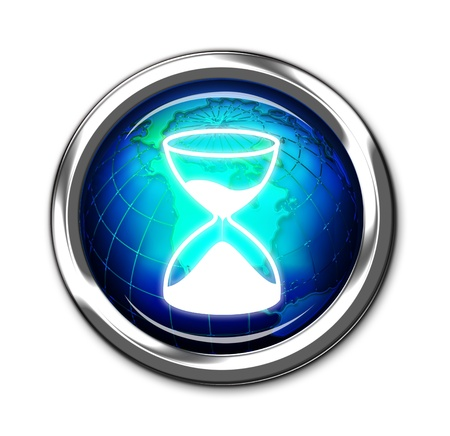 Computer Hourglass Button  Stock Photo - 13747590