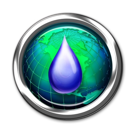 Computer Water Environment Button  Stock Photo - 13684271