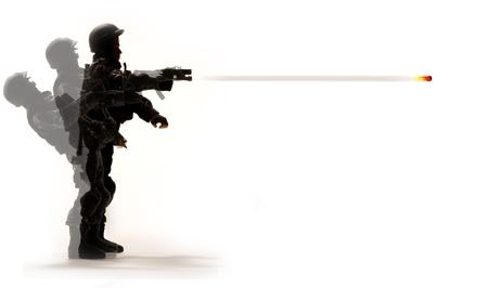 Soldier schieten wapen
