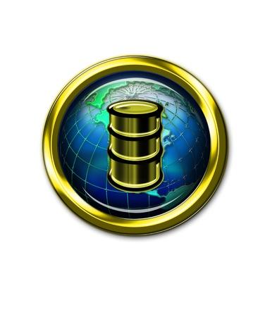 Oil Button Stock Photo - 14205612