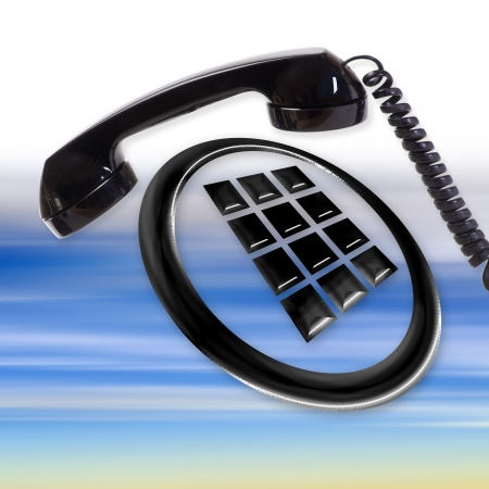 Telefono Icon Archivio Fotografico