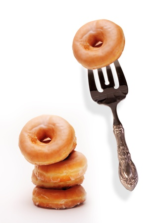 Donuts on a Fork Stock Photo - 14205621