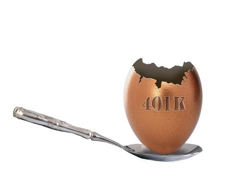 gniazdo jaj: 401K Egg Nest wyłamane