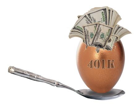 gniazdo jaj: 401K Nest Egg Zdjęcie Seryjne