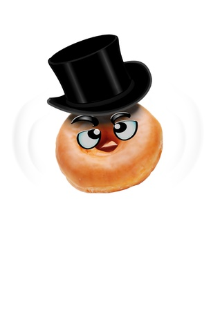 Donut Man With Black Top Hat  Stock Photo - 14330145