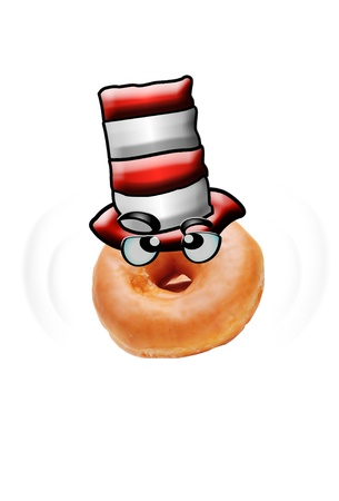 Donut Felt Top Hat Head  Stock Photo - 14344513