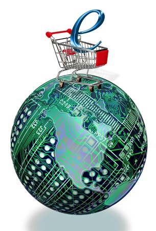 Round circuit boards with E-Commerce  photo