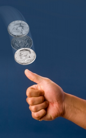 Coin Toss  Stock Photo - 14671696
