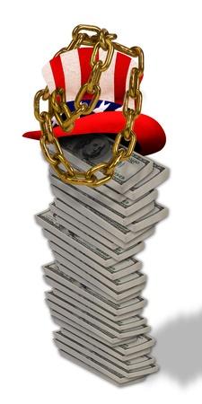 locked up: Money stacked and locked up