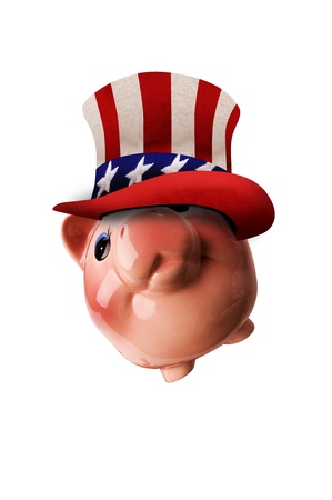 Patriotic Piggy Bank  photo