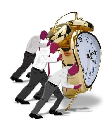 Pushing Time Stock Photo - 14799701