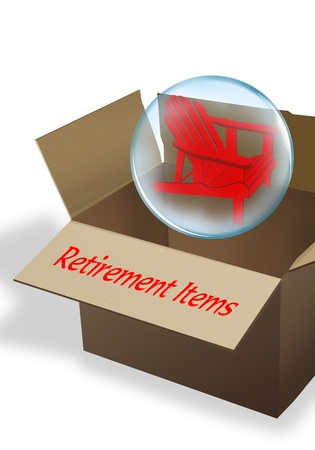 Retirement Box  Stock Photo - 14847779