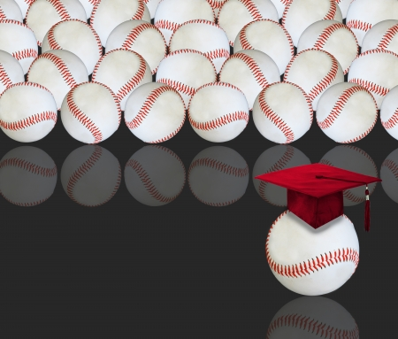 Baseballs and Graduation  photo