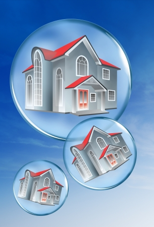 Homes in a bubble  photo