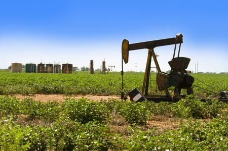 pozo petrolero: Bomba del pozo de petr�leo en el oeste de Texas