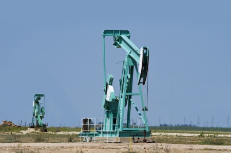 Oil Well Pumper in West Texas  Stock Photo - 15058246