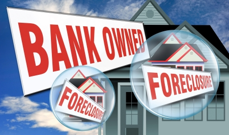 Bank Owned Foreclosure  Stock Photo - 15141750
