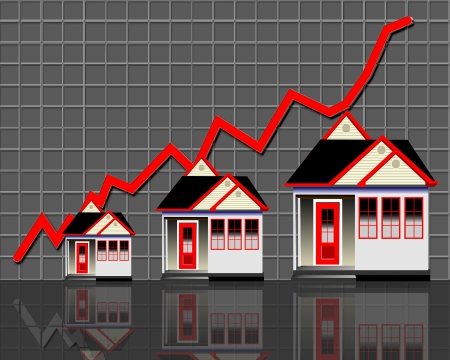 Home Sales Going Up  Stock Photo
