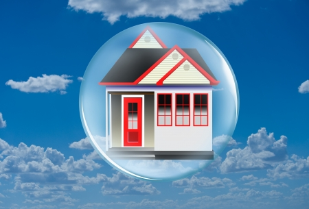 house prices: Home in a bubble