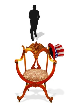 Empty Presidential Chair  Stock Photo - 15244944