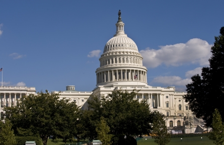 u s a: U S Capital Building in Washington D C  Stock Photo