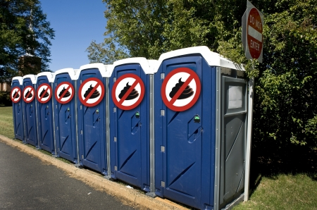 No Poop Outhouse  Stock Photo - 15576338