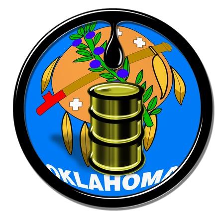 yacimiento petrolero: Oklahoma Petróleo Foto de archivo