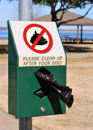 No Poop In Dog park. Stock Photo - 15660505