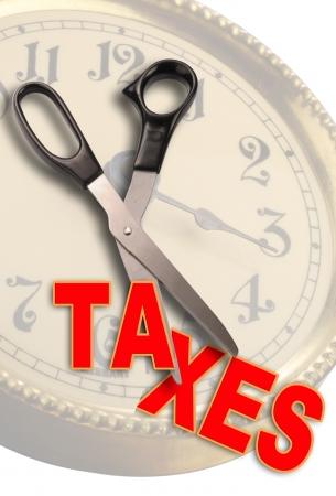 tax bracket: Slash Taxes  Stock Photo