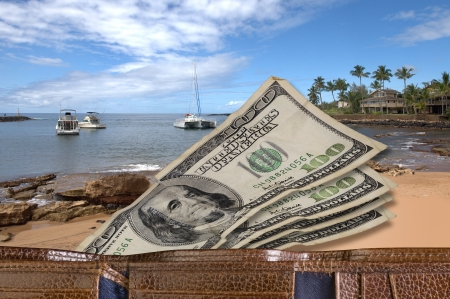 Vacation Money  Stock Photo