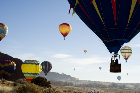 Hot Air Balloons at Gallup,New Mexico