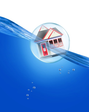 Home in a bubble under water  photo