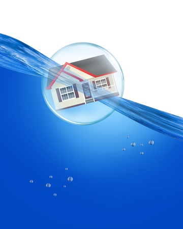Home in a bubble under water