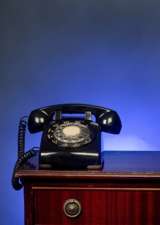 Rotary Telephone with room for your help  Stock Photo - 17083672